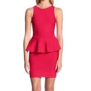 BCBG Red Peplum Dress